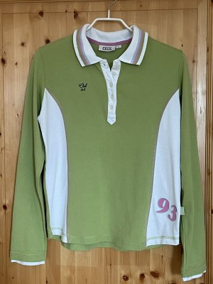 Cecil Longsleeve lime-green-white