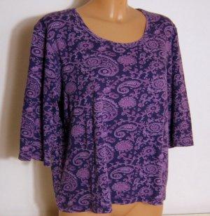 CECIL Shirt Größe XXL Lila Paisley Print