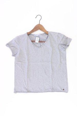 Cecil Shirt mit V-Ausschnitt Größe S Kurzarm grau