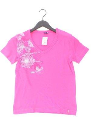 Cecil Shirt mit V-Ausschnitt Größe S Kurzarm pink aus Baumwolle