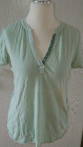 Cecil Shirt, Pailletten, Mint, Organic Cotton, Gr. S, Neuwertig
