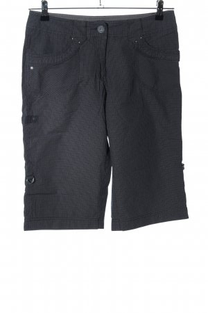 Cecil Shorts schwarz Karomuster Casual-Look