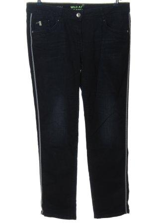 Cecil Jeans skinny blu-grigio chiaro motivo a righe stile casual