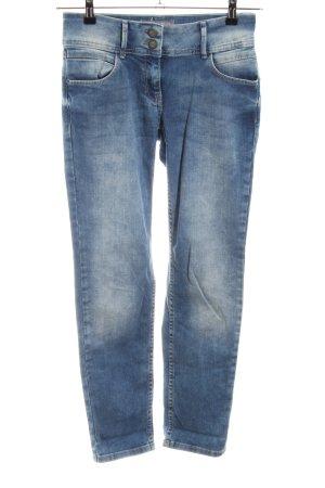 Cecil Slim Jeans blau Casual-Look