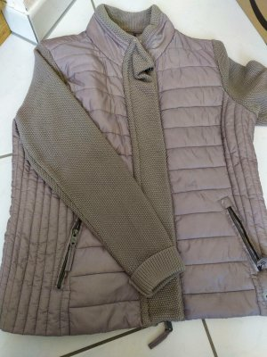 Cecil Down Jacket grey-mauve silk