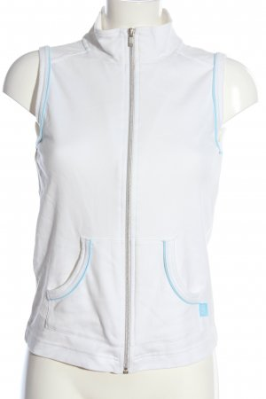 Cecil Sportvest wit-turkoois casual uitstraling