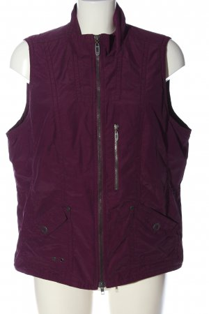 Cecil Sportvest lila quilten patroon casual uitstraling