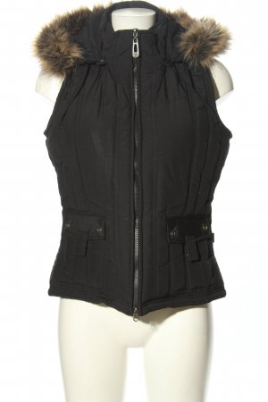 Cecil Quilted Gilet black quilting pattern casual look