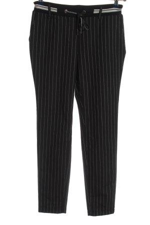 Cecil Stoffen broek zwart gestreept patroon zakelijke stijl