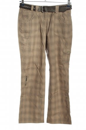Cecil Stoffhose creme Karomuster Casual-Look