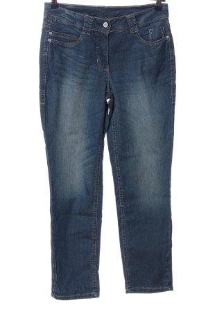 Cecil Jeansy z prostymi nogawkami niebieski W stylu casual