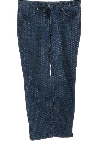 Cecil Jeansy z prostymi nogawkami niebieski Na całej powierzchni W stylu casual