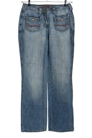 Cecil Straight-Leg Jeans blau Street-Fashion-Look
