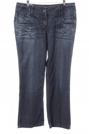 Cecil Straight-Leg Jeans blau Street-Fashion-Look