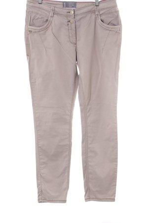 Cecil Jeansy z prostymi nogawkami beżowy W stylu casual