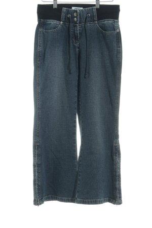 Cecil Jeansy z prostymi nogawkami ciemnoniebieski-szary niebieski W stylu casual