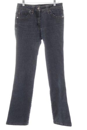 Cecil Jeansy z prostymi nogawkami szary niebieski Prosty styl