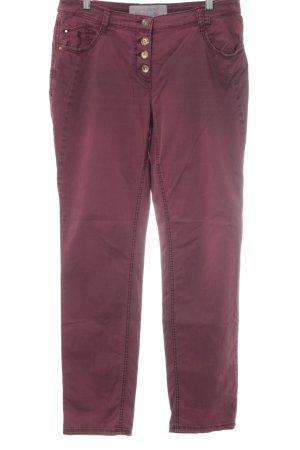 Cecil Jeansy z prostymi nogawkami głęboka czerwień W stylu casual