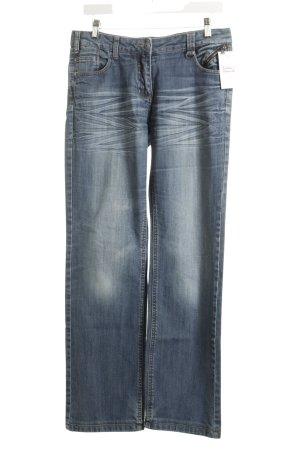 Cecil Jeansy z prostymi nogawkami chabrowy W stylu casual