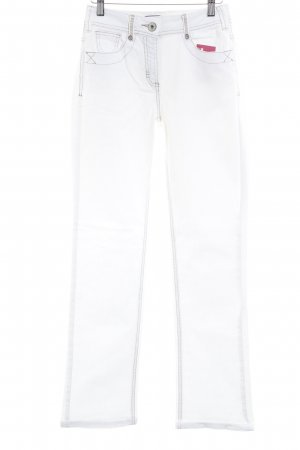 Cecil Jeansy z prostymi nogawkami biały W stylu casual