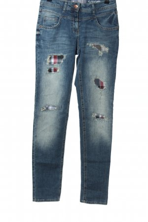 Cecil Stretch Jeans blau Casual-Look