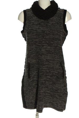 Cecil Vestido tejido negro-blanco Patrón de tejido look casual