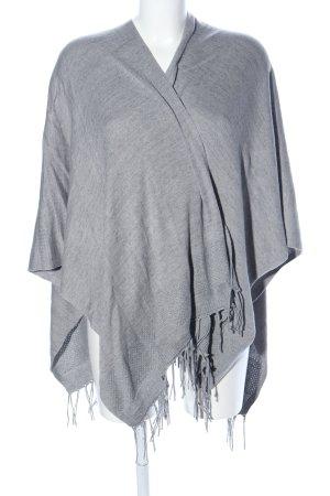Cecil Poncho en tricot gris clair moucheté style décontracté