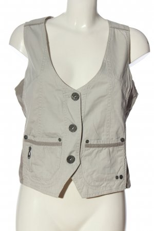 Cecil Waistcoat light grey abstract pattern casual look