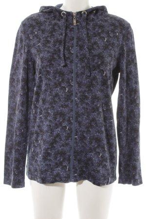 Cecil Sweatjacke dunkelblau-grauviolett florales Muster Casual-Look