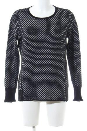 Cecil Sweatshirt schwarz-weiß Allover-Druck Casual-Look