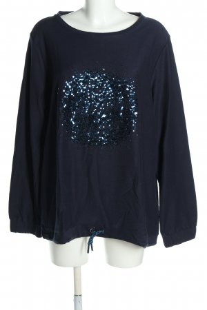 Cecil Sweatshirt blau Motivdruck Casual-Look