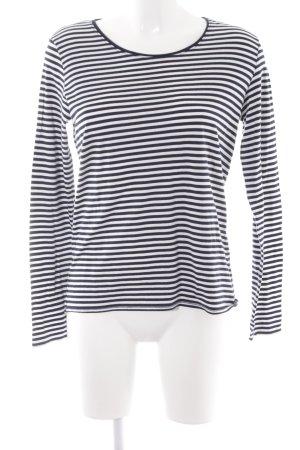 Cecil Sweatshirt dunkelblau-weiß Streifenmuster Casual-Look