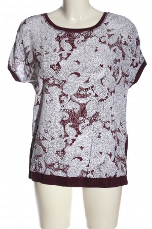 Cecil T-Shirt rot-weiß abstraktes Muster Casual-Look