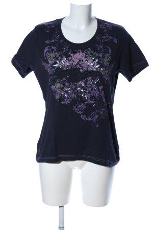 Cecil T-Shirt schwarz-lila Motivdruck Casual-Look