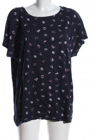 Cecil T-Shirt schwarz Allover-Druck Casual-Look
