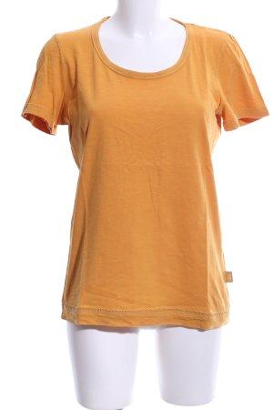 Cecil T-Shirt hellorange meliert Casual-Look