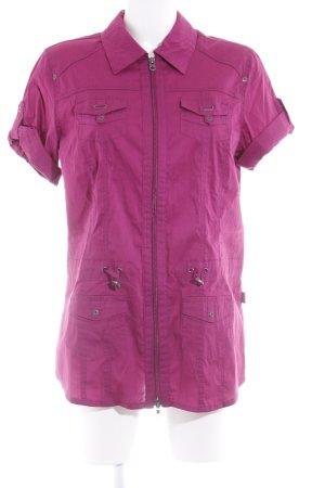 Cecil T-Shirt violett schlichter Stil