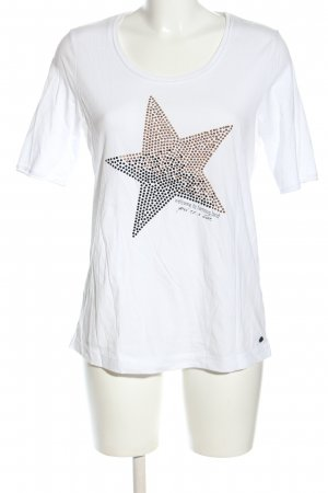 Cecil T-Shirt weiß Motivdruck Casual-Look