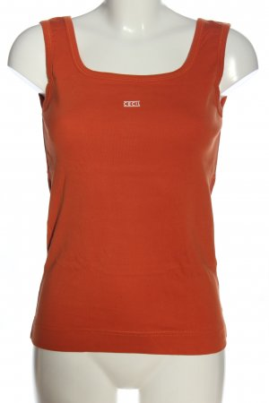 Cecil Tanktop rood-wit gedrukte letters casual uitstraling