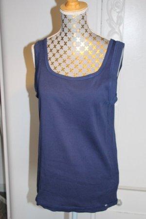 Cecil Basic Top steel blue cotton