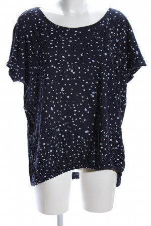 Cecil Boatneck Shirt blue-white spot pattern casual look