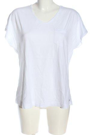 Cecil V-Ausschnitt-Shirt weiß Casual-Look