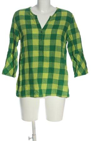 Cecil Camisa con cuello V verde estampado repetido sobre toda la superficie