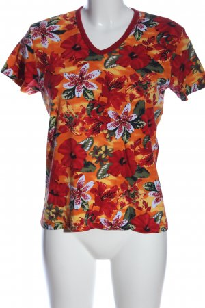 Cecil V-Neck Shirt flower pattern casual look