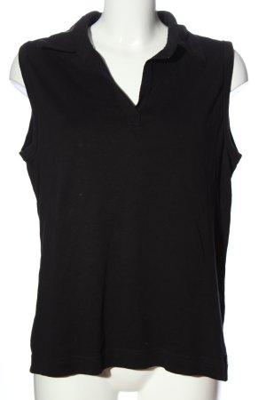 Cecil V-Ausschnitt-Shirt schwarz Casual-Look