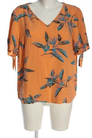 Cecil V-Ausschnitt-Shirt Allover-Druck Casual-Look