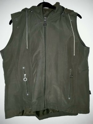 Cecil Hooded Vest olive green