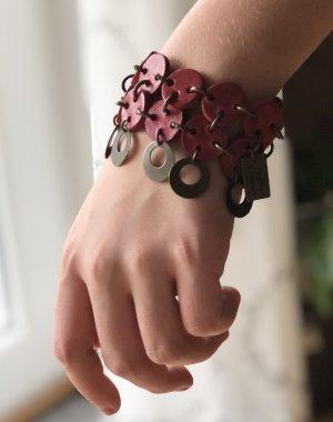 Leather Bracelet dark red