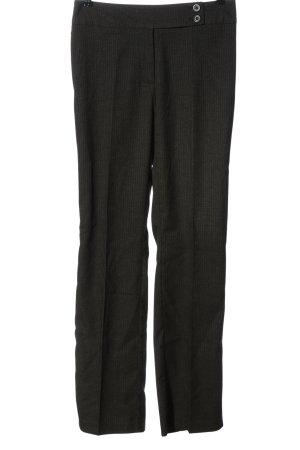 Cecilia Classics Suit Trouser black striped pattern business style