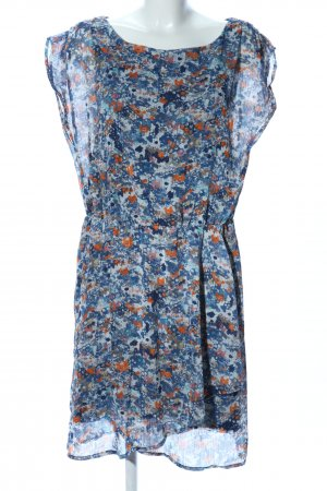 Cecilia Classics Blouse Dress blue-light orange abstract pattern casual look